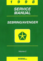 1998 Chrysler Sebring / Dodge Avenger Factory Service Manual - 2 Volume Set