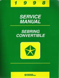 1998 Chrysler Sebring Convertible Factory Service Manual