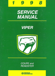 1998 Dodge Viper Coupe and Roadster Factory Service Manual