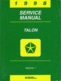 1998 Eagle Talon Factory Service Manual - 2 Volume Set