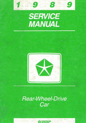 1989 Chrysler Rear Wheel Drive Cars Factory Service Manual