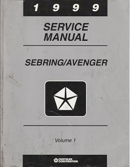 1999 Chrysler Serbring / Dodge Avenger Factory Service Manual Volume 1