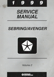 1999 Chrysler, Dodge Sebring & Avenger Factory Service Manual - 2 Volume Set