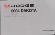 2004 Dodge Dakota Owner's Manual