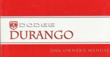 2006 Dodge Durango Owner's Manual