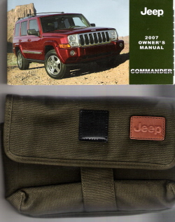 2007 Jeep Commander Owner's Manual with Case