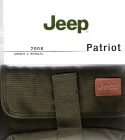 2007 Jeep Patriot Owner's Manual