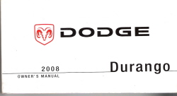 2008 Dodge Durango Factory Owner's Manual with Case