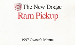 1997 Dodge Ram Pickup Owner's Manual