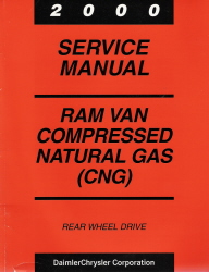 2000 Dodge Ram Van Factory Service Manual Supplement - Compressed Natural Gas