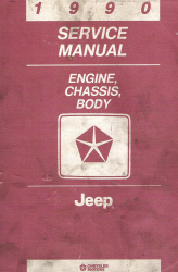 1990 Jeep Engine, Chassis, and Body Service Manual