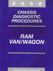 2002 Dodge Ram Van/Wagon Chassis Diagnostic Procedures Manual