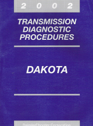 2002 Dodge Dakota Transmission Diagnostic Procedures Manual