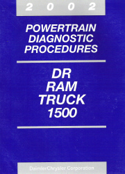 2002 Dodge DR Ram Truck 1500 Powertrain Diagnostic Procedures