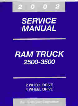 2002 Dodge Ram 2500 - 3500 Truck Service Manual