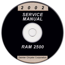 2002 Dodge Ram 2500 - 3500 Truck Service Manual CD