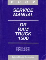 2002 Dodge DR Ram Truck 1500 only Factory Service Manual