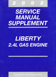 2002 Jeep Liberty 2.4L Gas Engine Service Manual Supplement