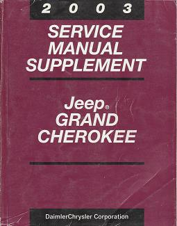 2003 Jeep Grand Cherokee Service Manual Supplement
