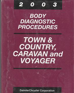 2003 Chrysler Town & Country / Dodge Caravan / Plymouth Voyager Body Diagnostic Procedures Manual