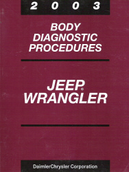 2003 Jeep Wrangler Body Diagnostic Procedures