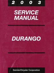 2003 Dodge Durango Service Manual