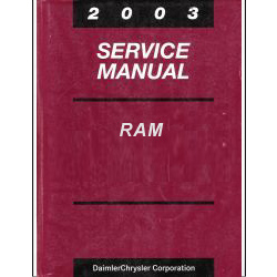 2003 Dodge Ram 1500, 2500, 3500 Truck Factory Service Manual - 2 Volume Set