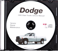 2003 Dodge Ram Truck Service Manual - CD ROM