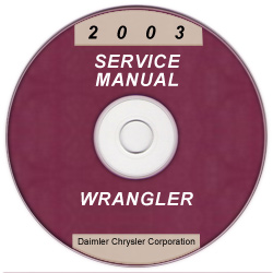 2003 Jeep Wrangler Service Manual - CD Rom