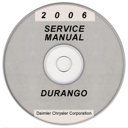 2006 Dodge Durango Service Manual- CD Rom