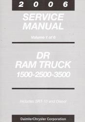 2006 Dodge Ram Truck Service Manual - 6 Volume Set