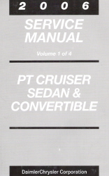 2006 Chrysler PT Cruiser Service Manual - 4 Volume Set