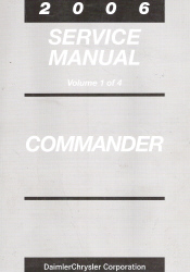 2006 Jeep Commander Factory Service Manual - 4 Volume Set