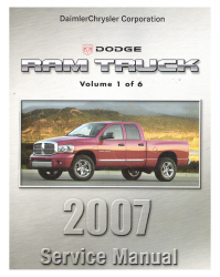 2007 Dodge Ram Truck Factory Service Manual - 6 Volume Set
