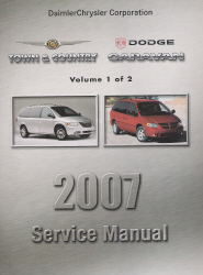 2007 Dodge Caravan, Chrysler Town & Country (RS) Service Manual - 2 Volume Set