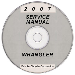 2007 Jeep Wrangler (JK) Service Manual on CD *XML & SVG*