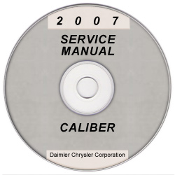 2007 Dodge Caliber Service Manual on CD-ROM
