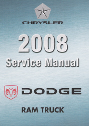 2008 Dodge Ram Truck (D1/DC/DH/DM/DR) Service Manual - 6 Volume Set