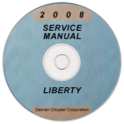 2008 Jeep Liberty Factory Service Manual on CD