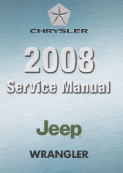 2008 Wrangler (JK) Service Manual - 4 Volume Set