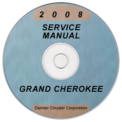 2008 Jeep Grand Cherokee Factory Service Manual on CD