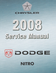 2008 Nitro (KA) Service Manual - 4 Volume Set