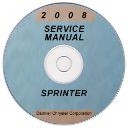 2008 Dodge Sprinter Factory Service Manual on CD