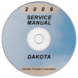 2009 Dodge Dakota Factory Service Manual on CD