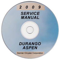 2009 Dodge Durango and Chrysler Aspen Factory Service Manual on CD