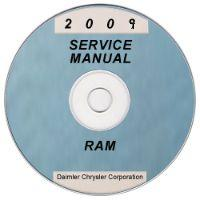 2009 Dodge Ram Truck 1500 Factory Service Manual on CD