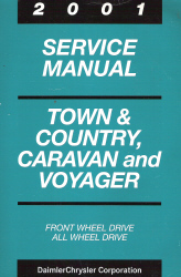 2001 Chrysler Town & Country, Dodge Caravan & Plymouth Voyager Service Manual