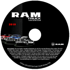 2010 Dodge Ram Truck 1500 2500 3500 Factory Service Manual - CD-ROM