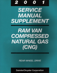 2001 Dodge Ram Van & Wagon Compressed Natural Gas Factory Service Manual Supplement
