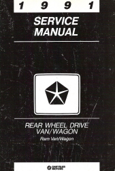 1991 Dodge Ram Van/Wagon Service Manual